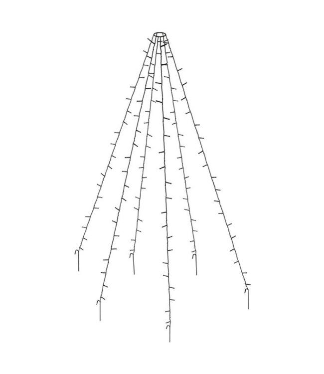 Vlaggenmast verlichting 360 LED's - 800cm I Kerst verlichting I
