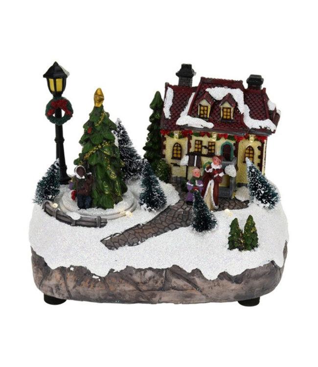 Verlicht kersthuisje I kersthuisje verlicht I Kersthuis I
