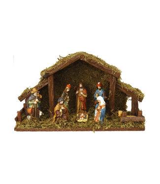 Kerststal 8 figuren met verlichting