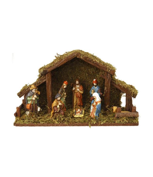Kerststal 8 figuren, met verlichting I kerststal I Kerstverlichting I