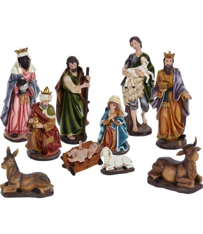 Kerstgroep 10-delig - XL I kerstpoppen I