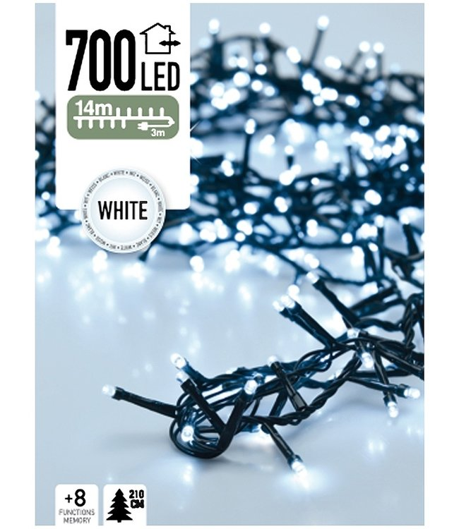 Micro Cluster 700 LED's 14 meter wit