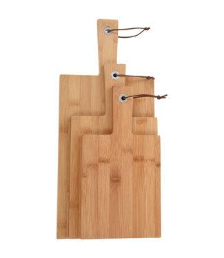 Snijplanken bamboe - set van 3
