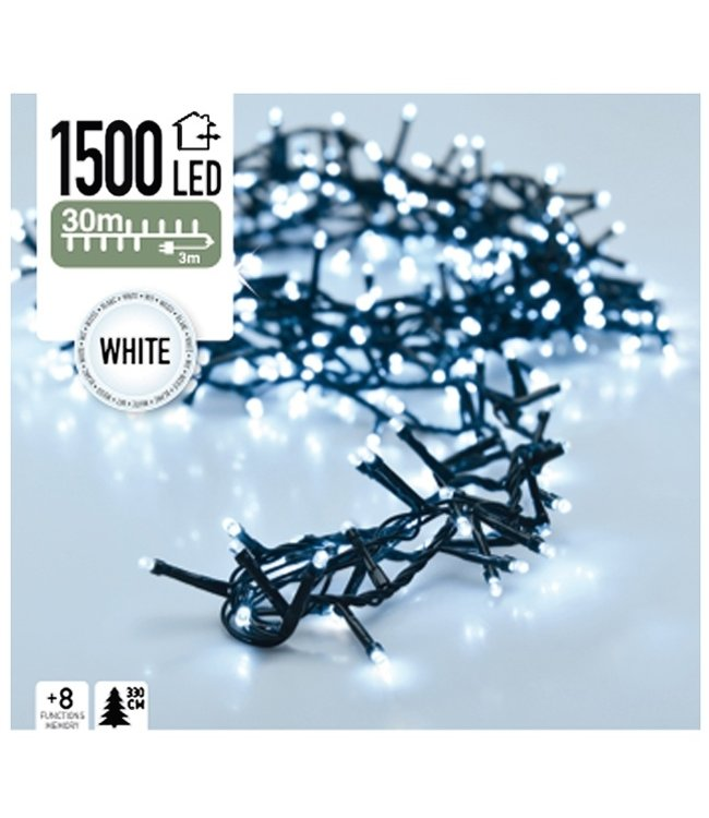 Micro Cluster 1500 LED's 30 meter wit