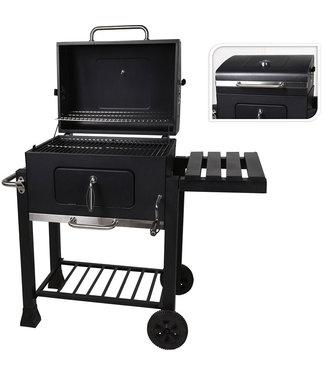 Houtskool BBQ - mat zwart