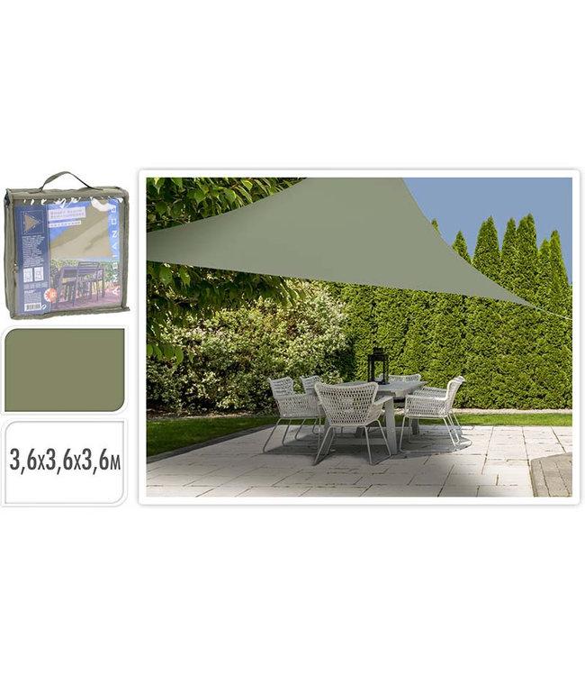 Schaduwdoek driehoek 360x360x360 - groen