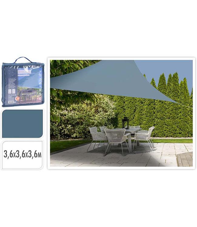 Schaduwdoek driehoek 360x360x360 - blauw