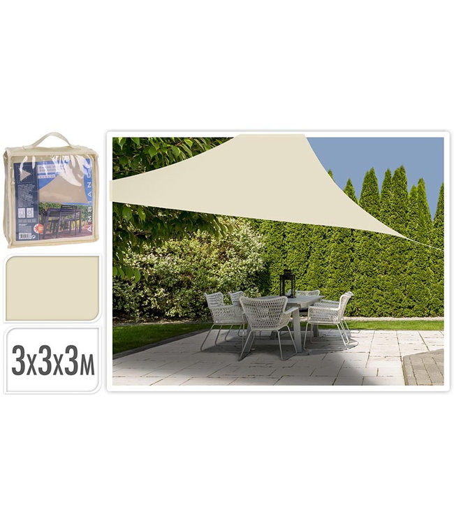 Schaduwdoek driehoek 3x3x3m - off white
