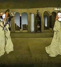 Tine De Groote Postcard  The Annunciation - Tine De Groote