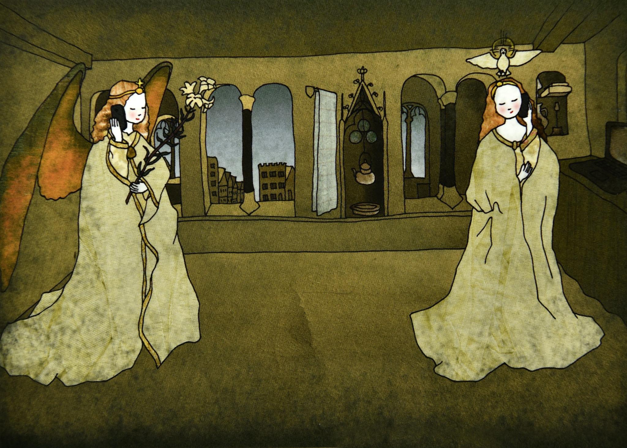 Tine De Groote Postkaart  De Annunciatie - Tine De Groote