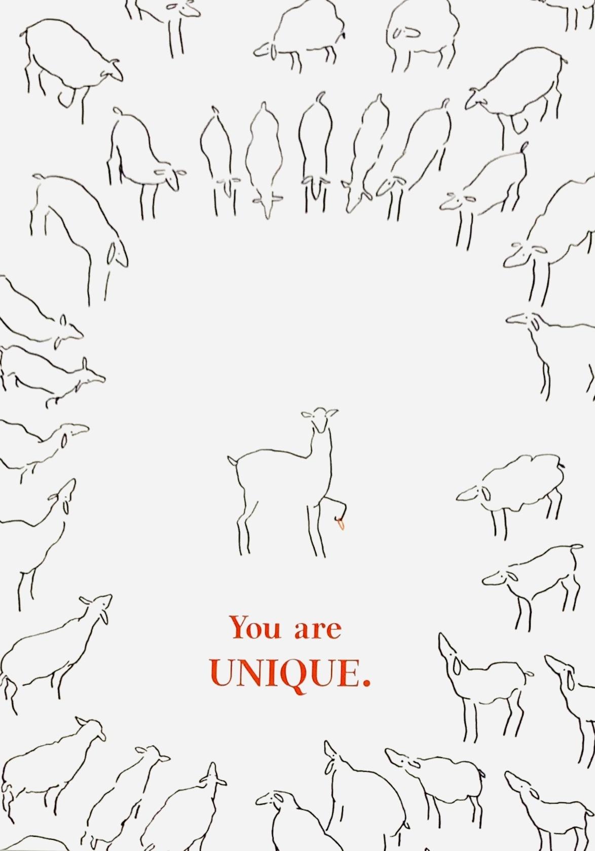 Sabien Clement Postkaart Sabien Clement - You are unique