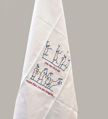 Sabien Clement Embroidered tea towel Ghent Altarpiece  - Sabien Clement