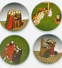 Tine De Groote Set ronde glazen onderleggers - Tine De Groote