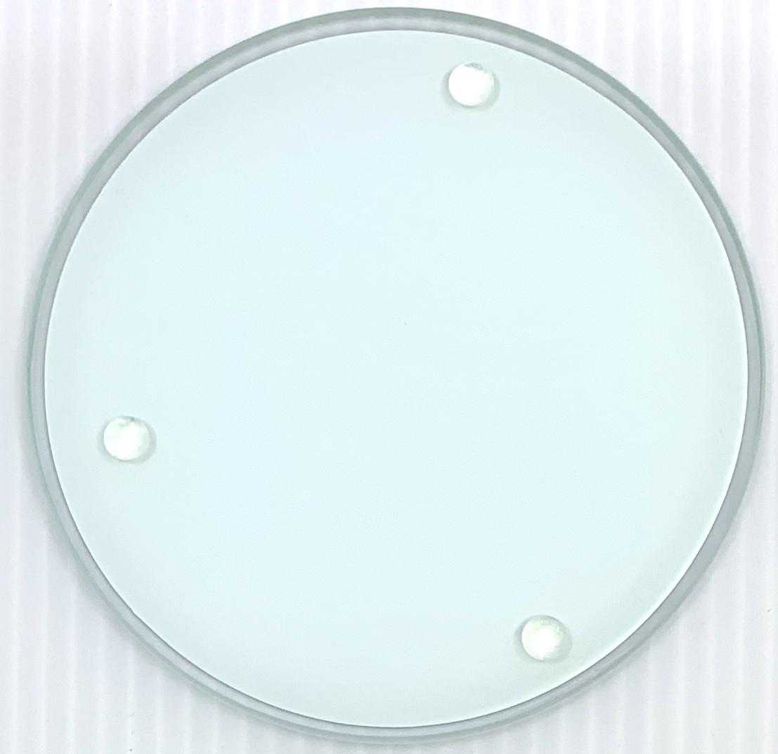 Tine De Groote Set ronde glazen onderleggers met illustratie  - Tine De Groote