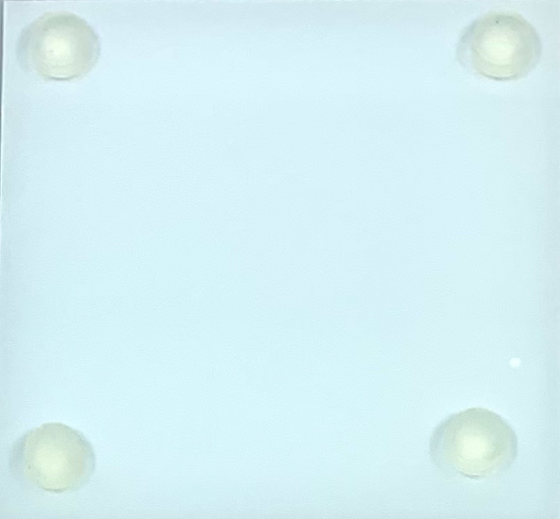 Tine De Groote Set vierkante glazen onderleggers met illustratie  - Tine De Groote