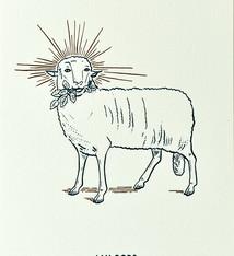 Blommm Luxe postkaart Lam Gods - Blommm