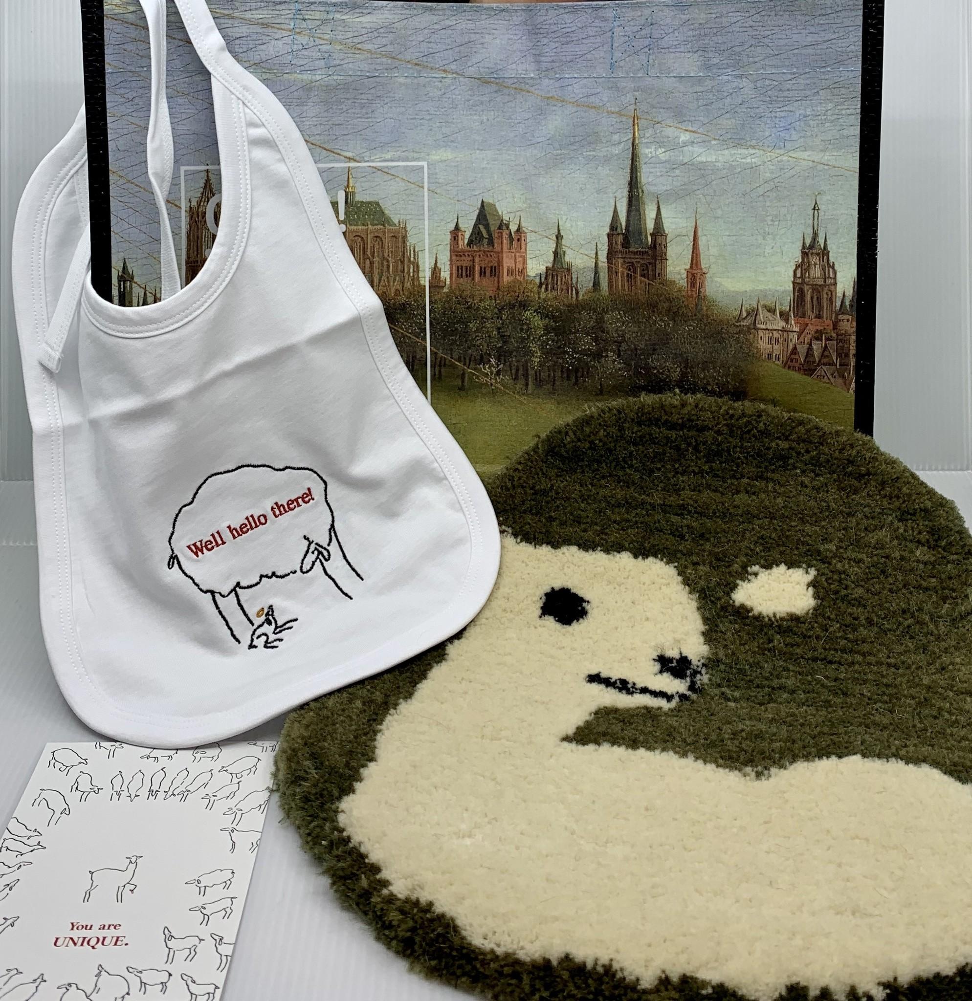 Van Eyck shop Cadeaupakket 'Hello There': slabbetje, tapijtje, kaartje, tas