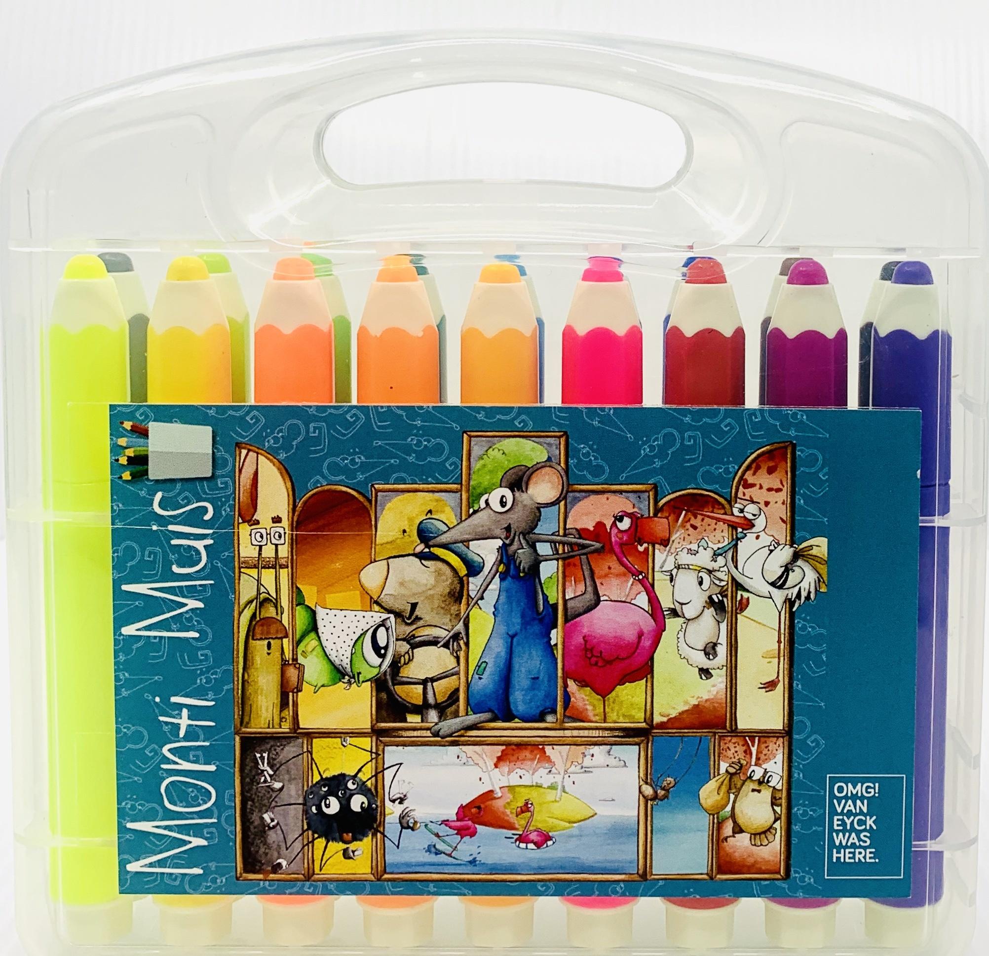 Monti Muis Monti Muis kleurboek met stiften