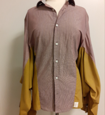 Studio AMA Unique shirt blouse brown - Studio AMA