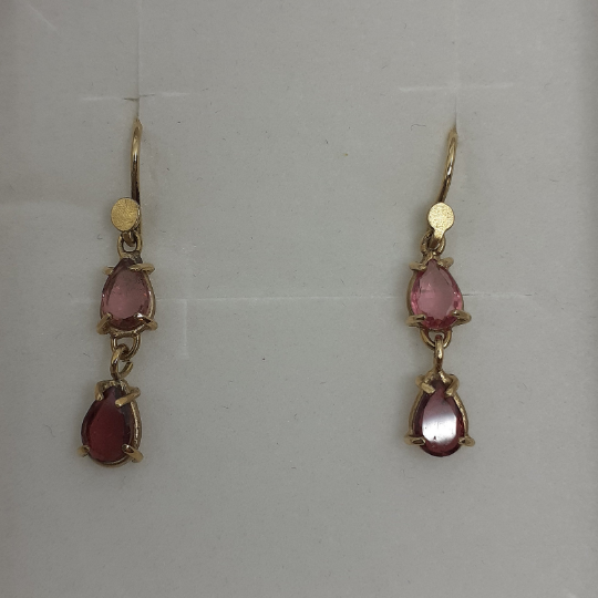 Onis Unique gold earrings with tourmaline - Onis