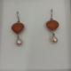 Onis Unieke zilveren oorbellen met jade en zoetwaterparels - Onis
