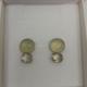 Onis Unieke zilveren oorringen met knopjes in citrine en prechnite - Onis