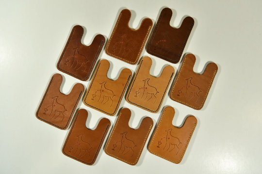 Marlies Davans Leather cardholder - Marlies Davans