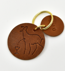 Marlies Davans Leather key ring Mystic Lamb - Marlies Davans