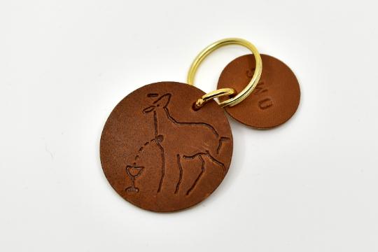 Marlies Davans Leather key ring Mystic Lamb - Marlies Davans