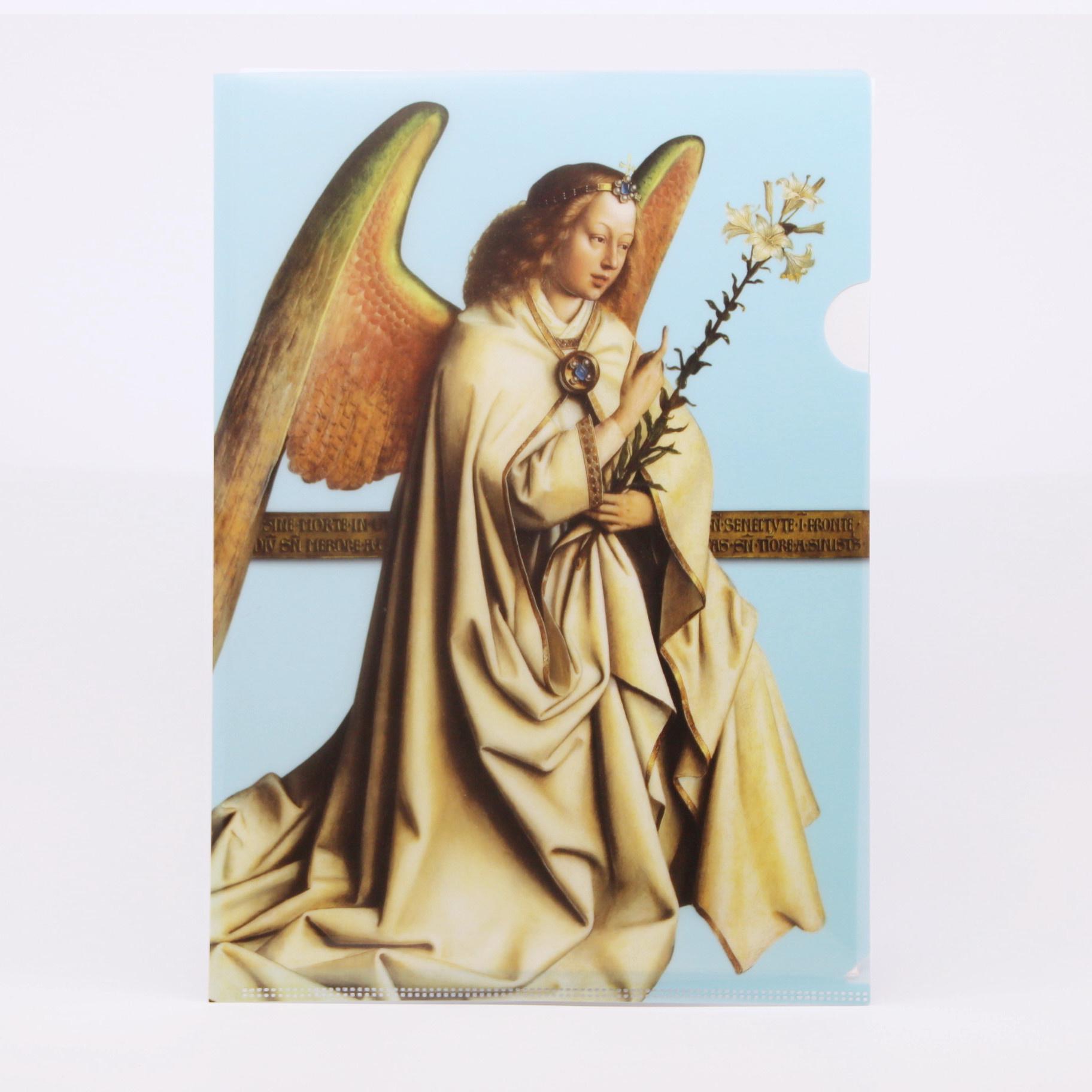 Sint-Baafskathedraal A4-mapje met de engel Gabriël, afbeelding van het Lam Gods
