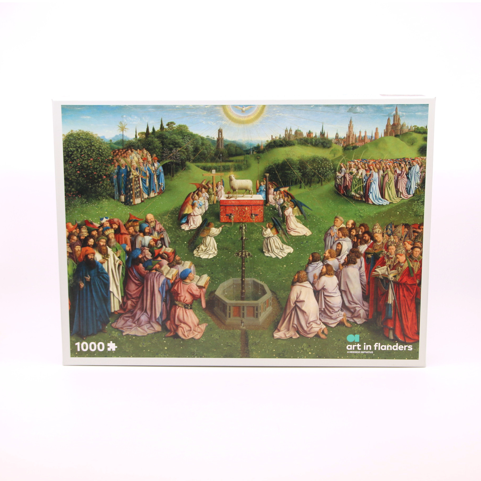 Sint-Baafskathedraal Jigsaw puzzle with The Adoration of the Mystic Lamb - 1,000 pieces
