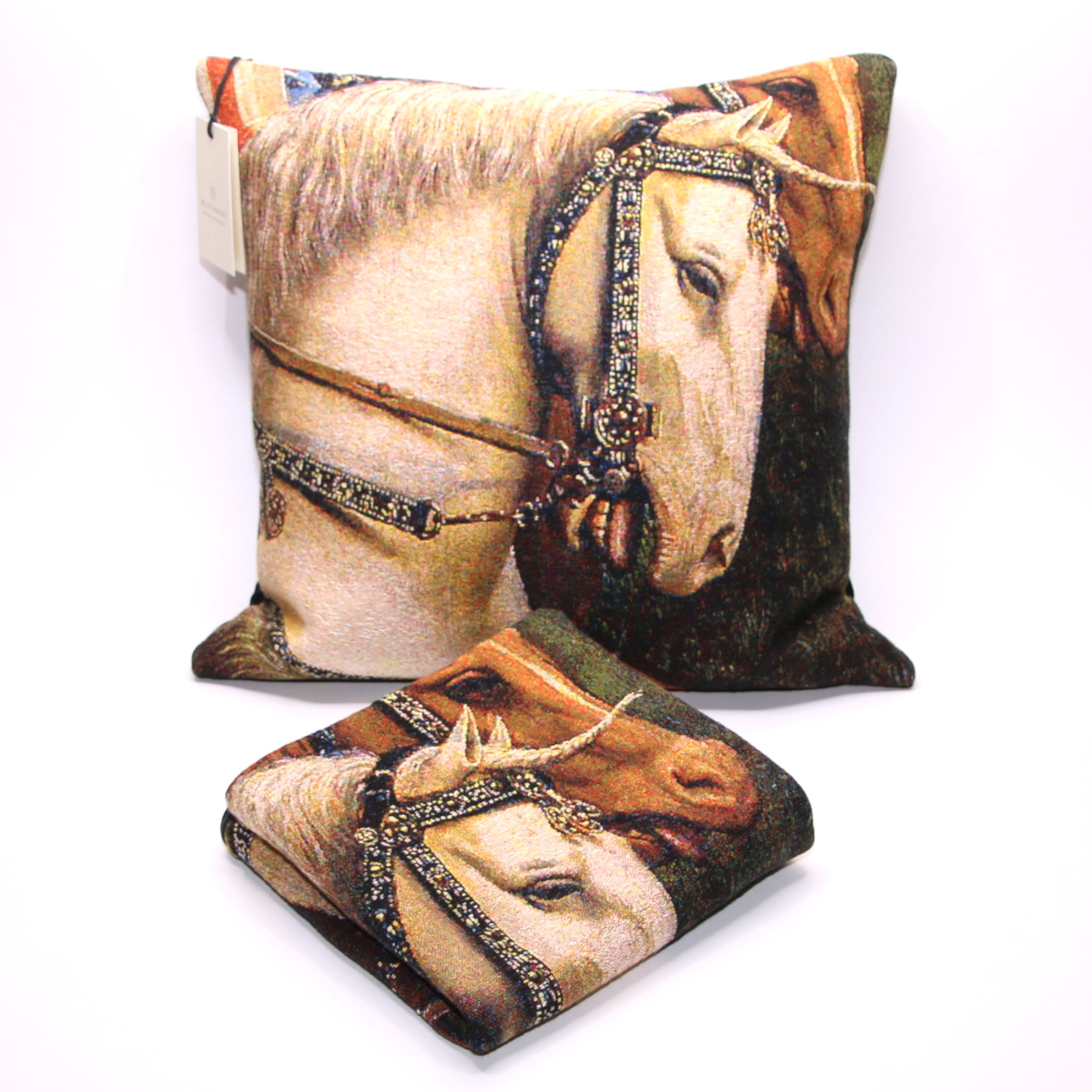 Meisterwerke Cushion cover Head of the horse on the panel of the Just Judges - Meisterwerke