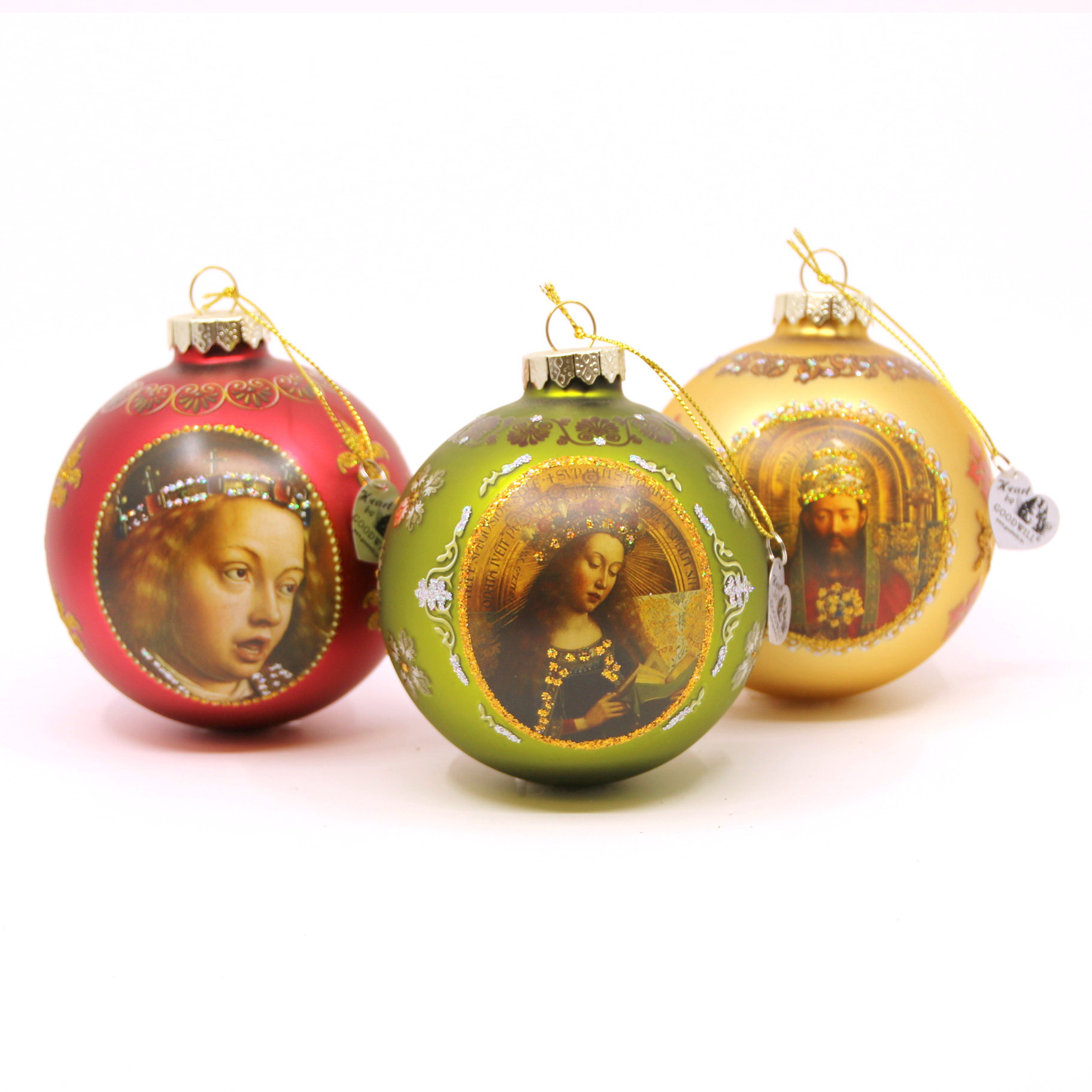 Sint-Baafskathedraal Pack of Baubles - God the Father, Mary and Angel