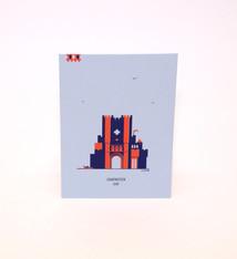 mmmMar Postcard Castle of the Counts Blue/Red - mmmMar