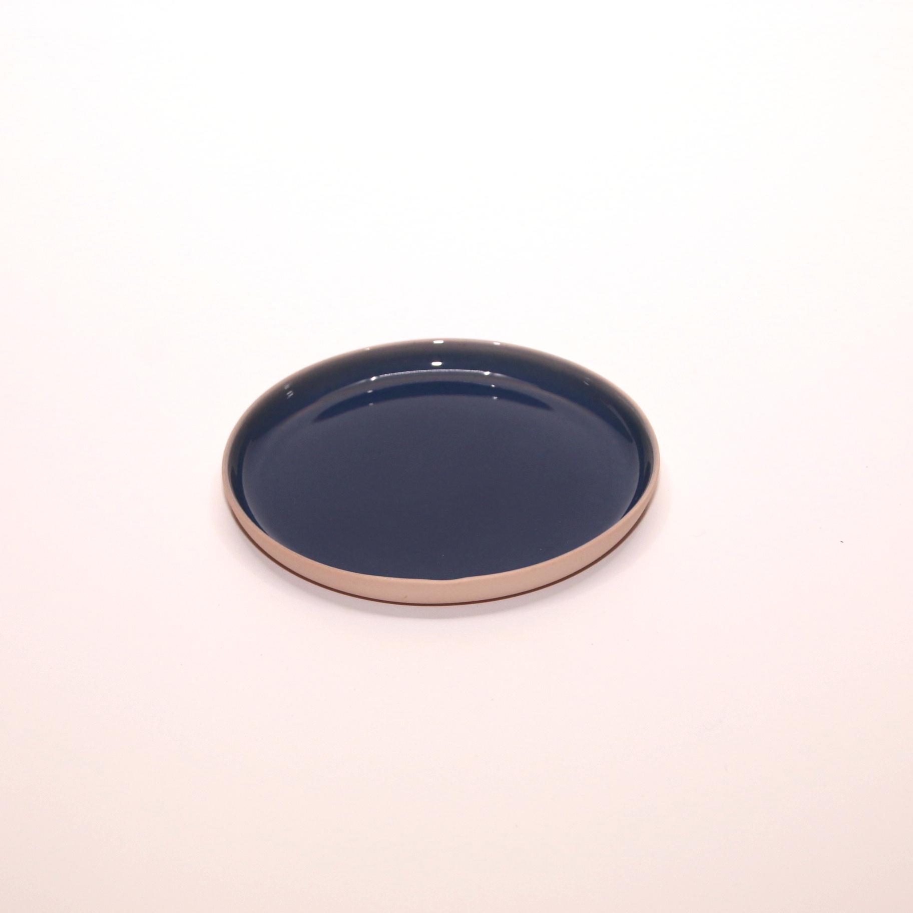 Grace of Glaze Porseleinen bordje blauw/lichtroze - GRACE of  GLAZE