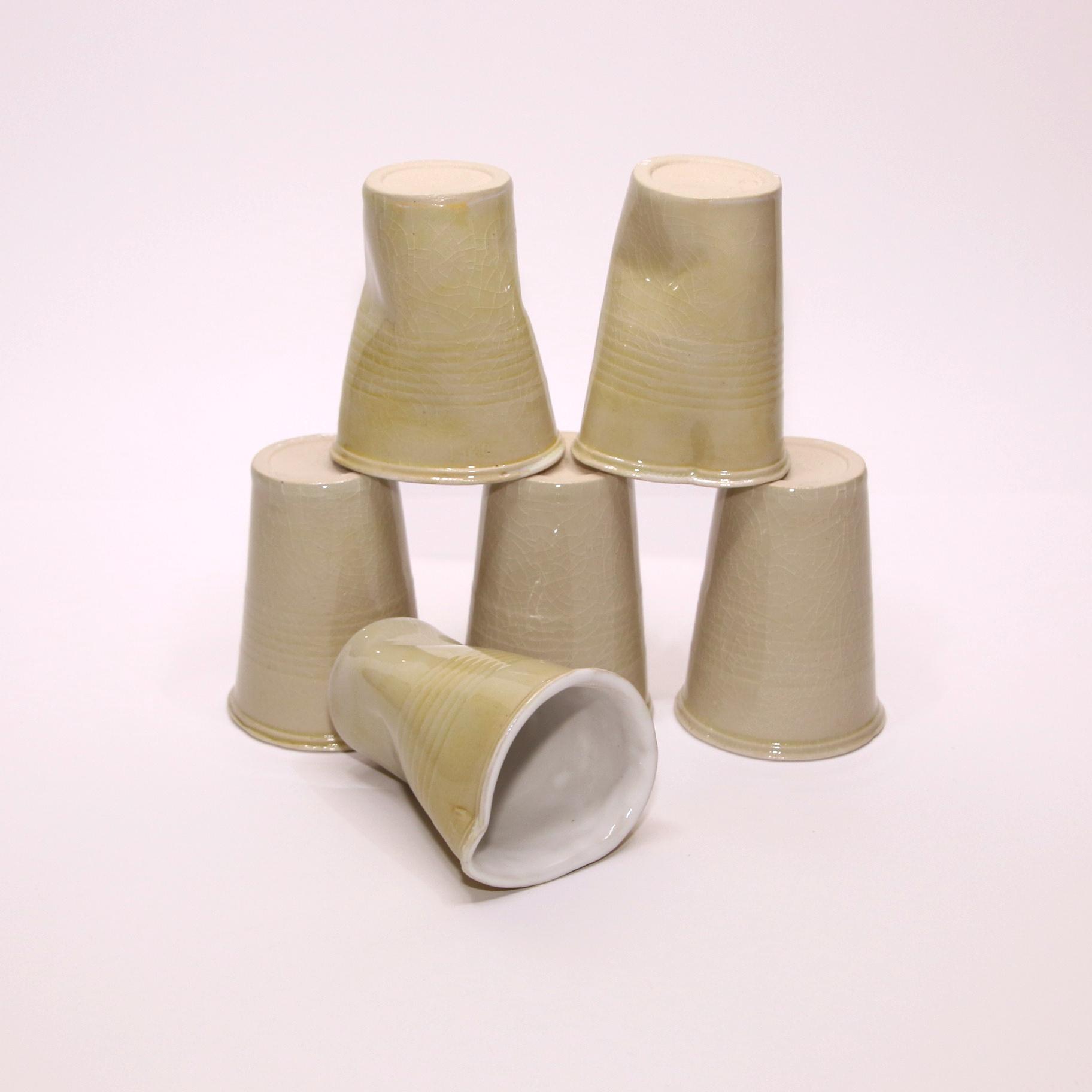Carron Ceramics Pair of coffee cups - Carron Ceramics