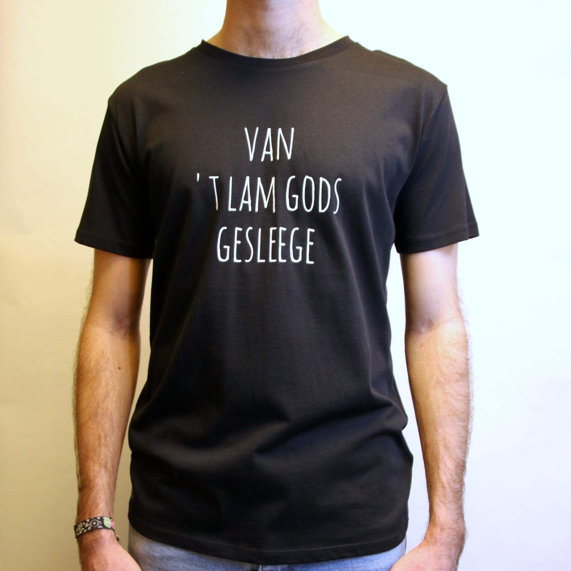 Negenduust T-shirt van 't Lam Gods gesleege - men's model black - Negenduust