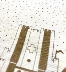 mmmMar Tea towel City map of Ghent Gold - mmmMar