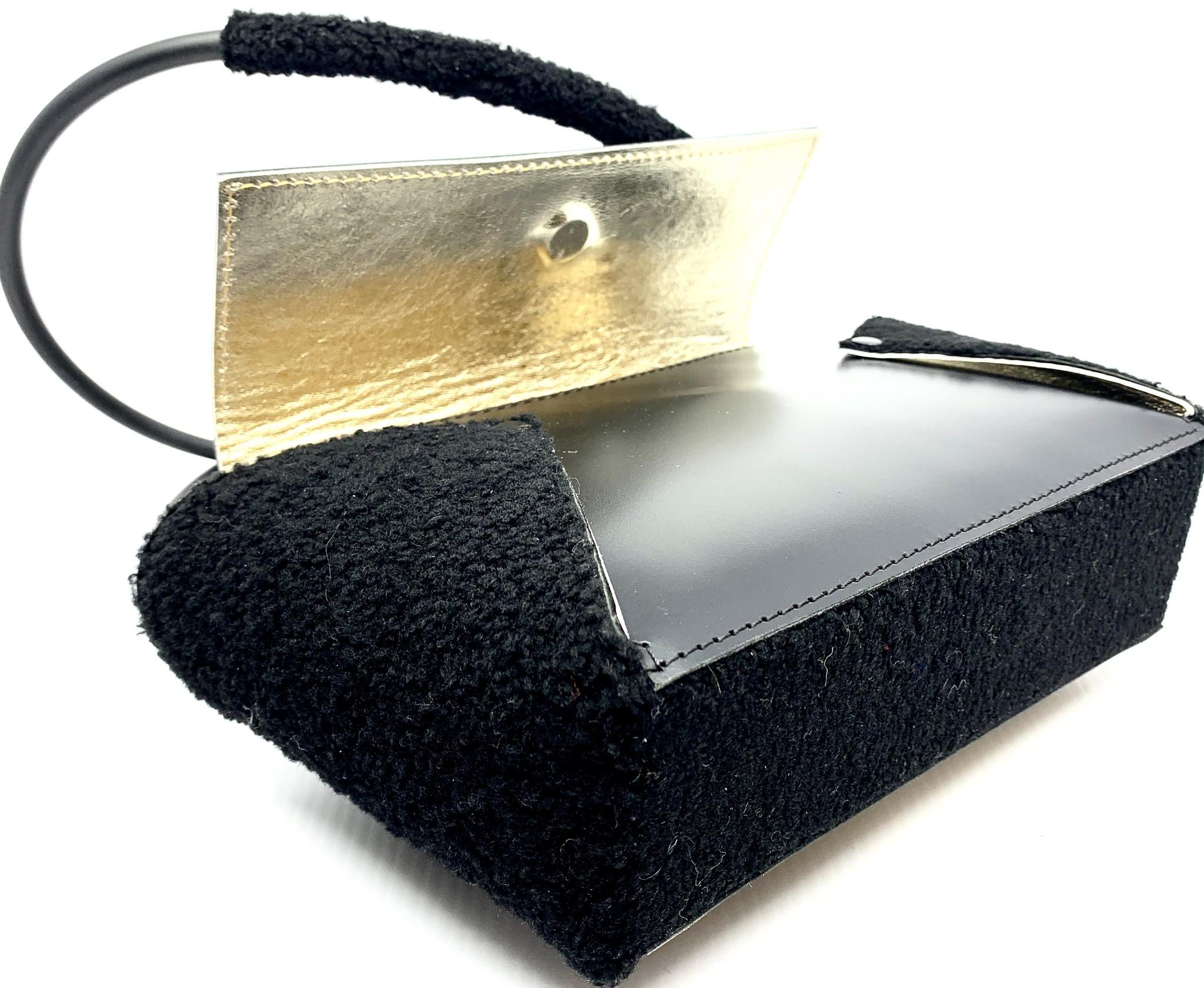 PAARL Unieke handgemaakte en gegraveerde handtas afbeelding Elisabeth Borluut - PAARL