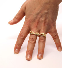 Anneke Coppens Unique gold ring 'Alc ixh xan' - Anneke Coppens