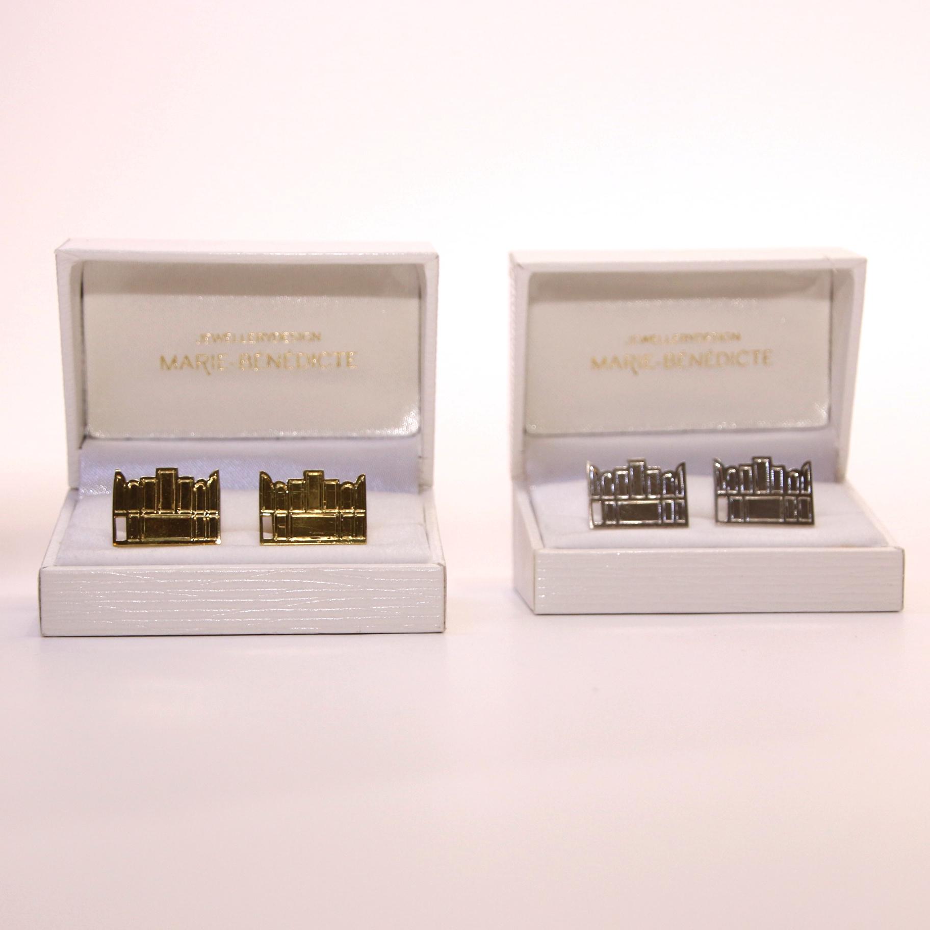 Marie-Bénédicte De Schryver Silver cuff links triptych - Marie-Bénédicte De Schryver
