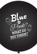 Haza Gender Reveal Ballon 60cm Blue or Pink?