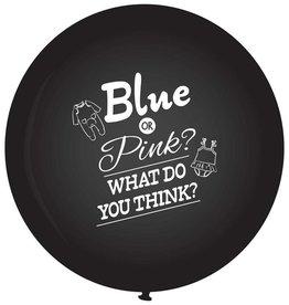Haza Gender Reveal Ballon 60cm