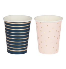 Ginger Ray Bekertjes Pink & Navy