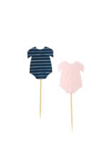 Ginger Ray Cupcake Prikkers Romper Navy & Pink