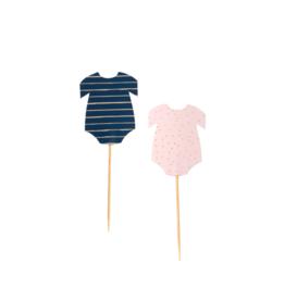 Ginger Ray Cupcake Prikkers Navy & Pink