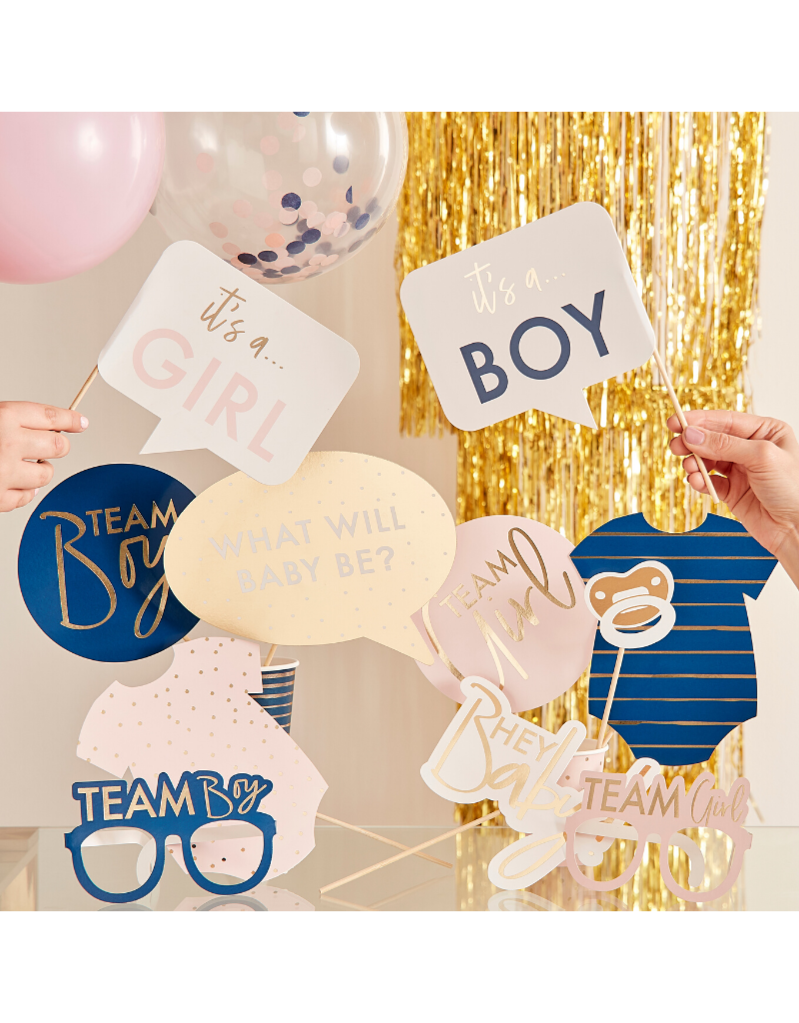 Ginger Ray Party Props Photo Booth Navy & Pink