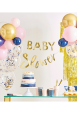 Ginger Ray Slinger Set Inclusief Ballonnen Navy & Pink