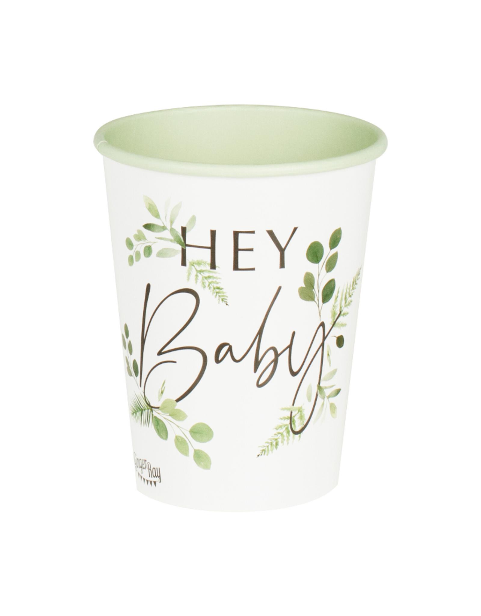 Ginger Ray Botanical Hey Baby Bekertjes