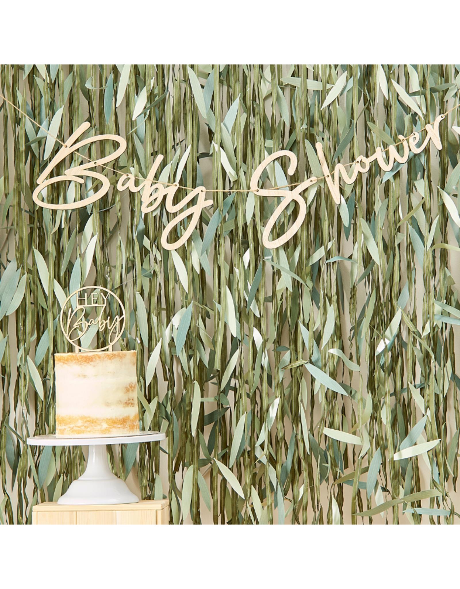 Ginger Ray Botanical Baby Shower Houten Slinger
